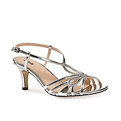 Pink by Paradox London - Silver strappy t-bar 'Trinity' sandal