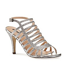 Pink by Paradox London - Silver caged heeled 'Skylar' sandal