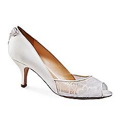 Benjamin Adams - Lace peep toe 'Caity' mid heel shoes