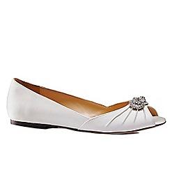 Benjamin Adams - Flat 'Ciara' peep toe shoes