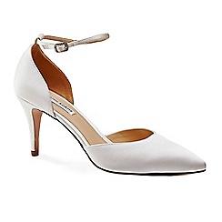 Benjamin Adams - Silk 'cora' mid heel stiletto pointed shoes