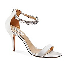 Benjamin Adams - Silk 'marla' high heel stiletto ankle strap sandals