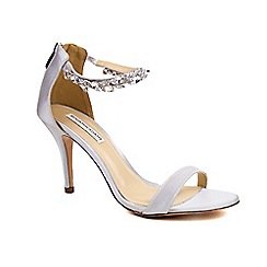 Benjamin Adams - Silk 'marla' high heel stiletto ankle strap sandals