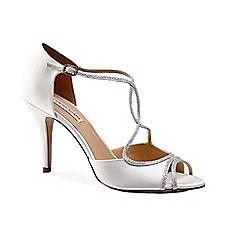 Benjamin Adams - Silk 'masie' high heel t-bar sandals