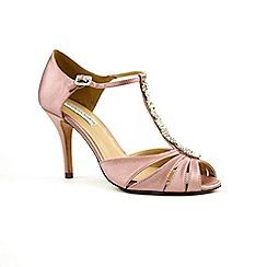 Benjamin Adams - Silk 'matilda' high heel stiletto t-bar sandals