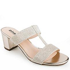 Pink by Paradox London - H-bar black heel 'Marianna' sandals
