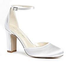 Pink by Paradox London - Satin 'celina' high heel block heel court shoes