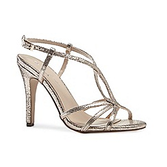 Pink by Paradox London - Glitter 'magic' high heel stiletto heel ankle strap sandals