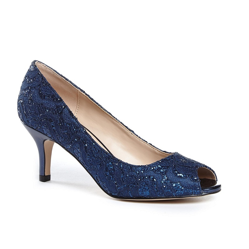 Dune Casterly Mid Kitten Heel Court Shoes