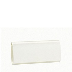 Pink by Paradox London - Ivory satin 'Shadow' clutch handbag