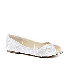 Pink by Paradox London - Lace 'asha' flat heel pumps