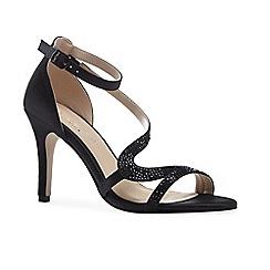 Pink by Paradox London - Glitter 'mckayla' high heel stiletto ankle strap sandals