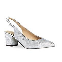 Pink by Paradox London - Silver glitter 'Aubree' mid heel block heel slingbacks