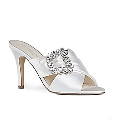 Pink by Paradox London - Ivory satin 'Marabelle' high heel stiletto mules