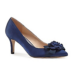 Pink by Paradox London - Blue satin 'Adaline' mid heel stiletto court shoes