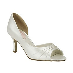 Pink by Paradox London - Ivory satin 'Sherbert' peep toe shoe