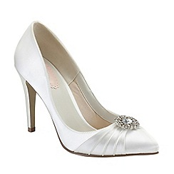 Pink by Paradox London - Ivory satin 'Honey' high heel court shoe