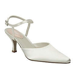Pink by Paradox London - Ivory 'Ballet' pointed toe mid heel shoe
