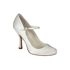 Benjamin Adams - Ivory silk 'Minnie' round toe mary jane