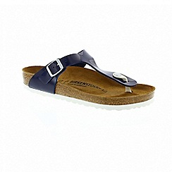Birkenstock - Blue patent 'Gizeh' ladies sandals