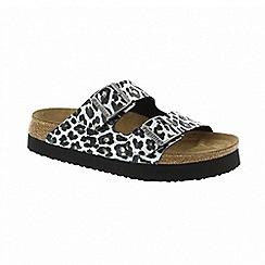 Birkenstock - White leo 'Arizona' platform sandals