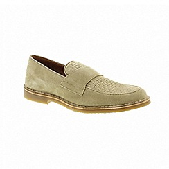 Selected Homme - Grey suede 'Royce' loafers