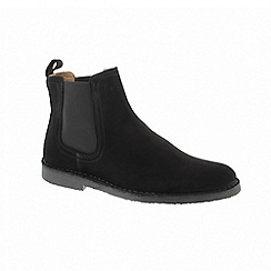Selected Homme - Black suede 'Royce Chelsea' ankle boots