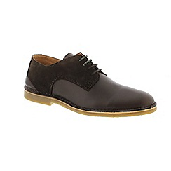 Selected Homme - Black Leather 'Royce Derby' shoes