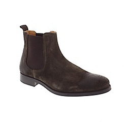 Selected Homme - Brown Suede 'Oliver' chelsea boots