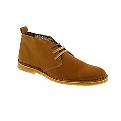 Selected Homme - Tan Nubuck 'Royce' chukka boots