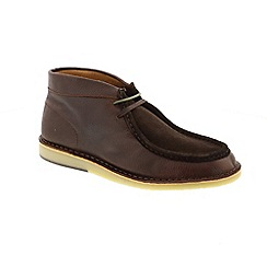 Selected Homme - Brown Leather 'Ronni Mix' boots
