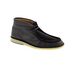 Selected Homme - Navy Leather 'Ronni Mix' boots