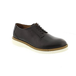 Selected Homme - Black Leather 'Rud Derby' shoes