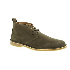 Selected Homme - Green Suede 'Royce' chukka boots