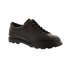 Camper - Black leather 'K100245 Brutus' lace up shoes