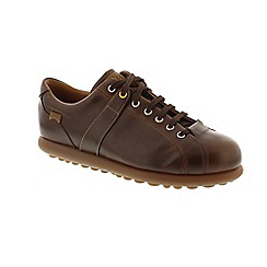Camper - Brown leather 'Pelotas Ariel' lace up shoes
