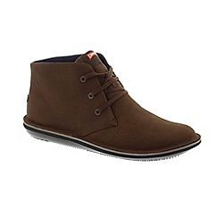 Camper - Brown Nubuck 'Beetle 36530' lace up boots
