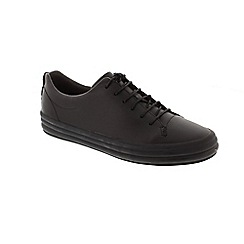 Camper - Black Leather 'Hoops' trainers