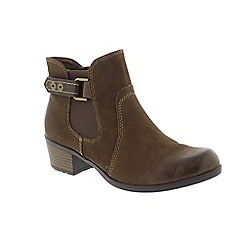 Earth Spirit - Brown stone 'El Reno' ankle boots