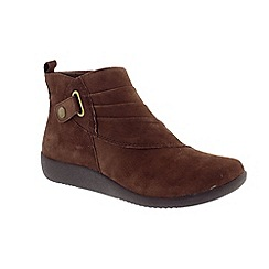 Earth Spirit - Dark brown 'Detroit' suede ankle boots