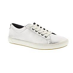 Birkenstock - Silver leather 'Arran' narrow fit trainers