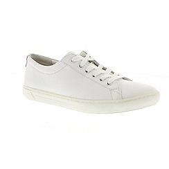 Birkenstock - White leather 'Arran' Narrow Fit trainers