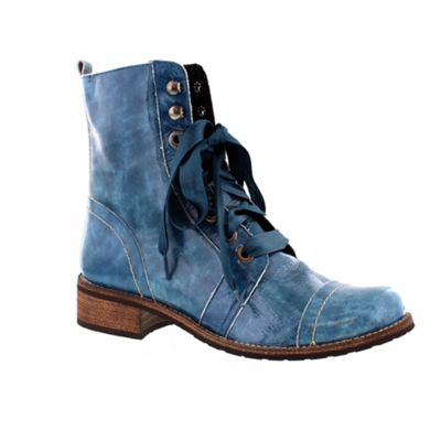 Adesso Blue Denim ´Billie´ ladies lace up ankle boot - . -