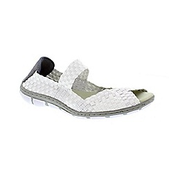 Adesso - White 'Bliss' ladies casual shoes with elasticated strap