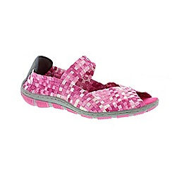 Adesso - Pink candy 'Bliss' ladies casual shoes with elasticated strap