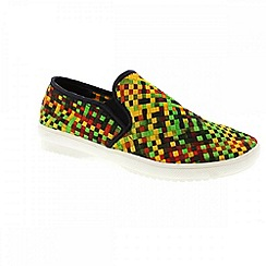 Adesso - Multi coloured opal 'Dylan' mens casual slip on shoes