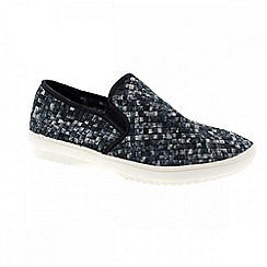Adesso - Black smoke 'Dylan' mens casual slip on shoes