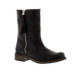 Adesso - Black 'Eden' ladies mid-calf boot