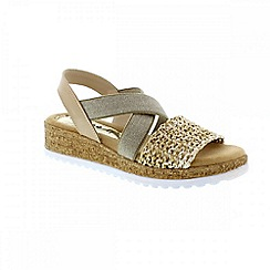 Adesso - Beige hay bale 'Eliza' ladies sandals