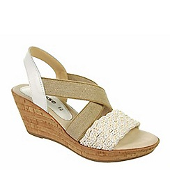 Adesso - White 'Ella' ladies wedge heeled sandals
